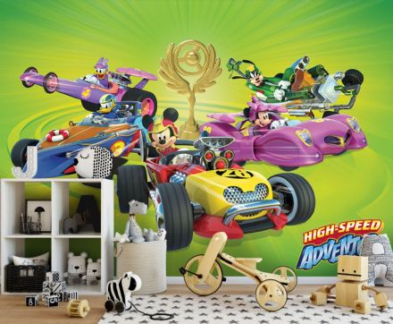 Wallpaper Disney Mickey Mouse Racing